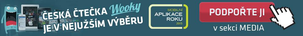 Česká čtečka Wooky je v nejužším výběru mobilní aplikace roku 2015