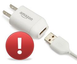 Nové zásilky čteček Amazon Kindle neobsahují USB adaptér!