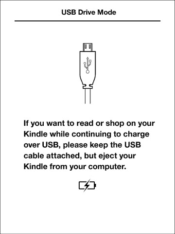 Amazon Kindle nabijeni USB z pocitace nebo notebooku a cteni knih