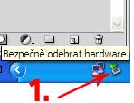 Odpojení čtečky Amazon Kindle ve Windows XP
