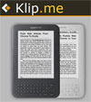 Amazon Kindle Klip.me služba