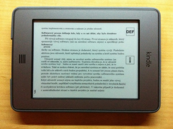 Amazon Kindle Touch Landscape Mode