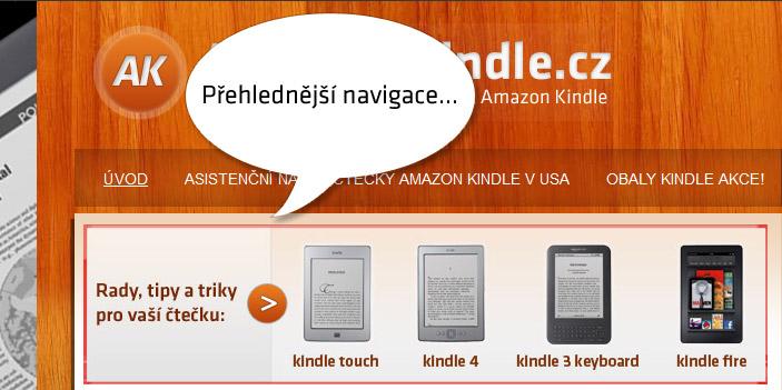 Vylepšujeme naše stránky Amazon Kindle