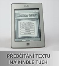 Předčítání textu Kindle Touch