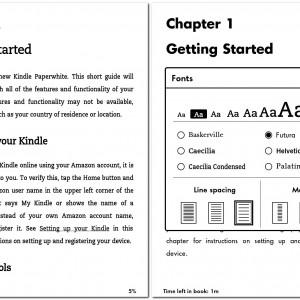 Kindle Paperwhite - Druhy písma podrobněji