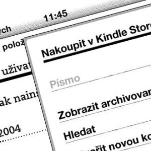 Čeština pro Kindle 5 a zajisté i Kindle 4