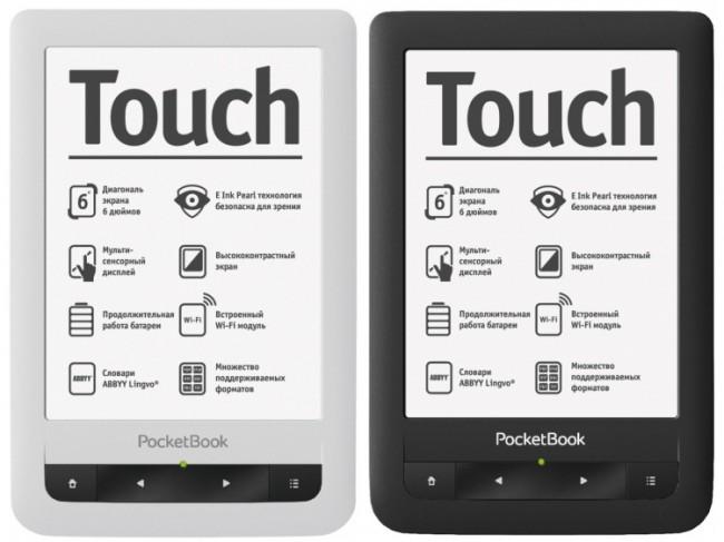 PocketBook Touch barevné varianty