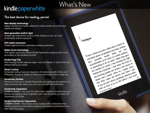 Novinky v novém Kindle Paperwhite