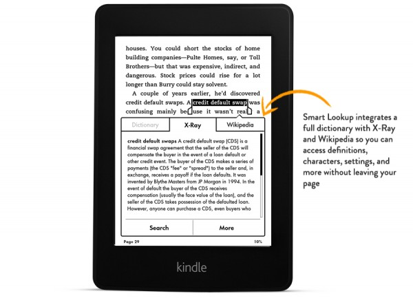 Smart Lookup Kindle Paperwhite