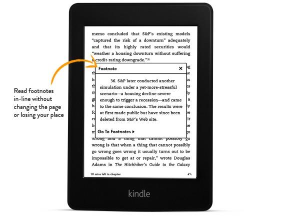 Pohodlné zobrazení poznámek v novém Kindle Paperwhite