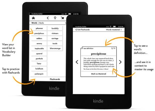 Vylepšený slovník Kindle Paperwhite