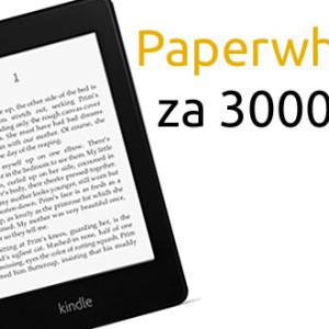 Kindle Paperwhite i s poštovným za 3000 Kč