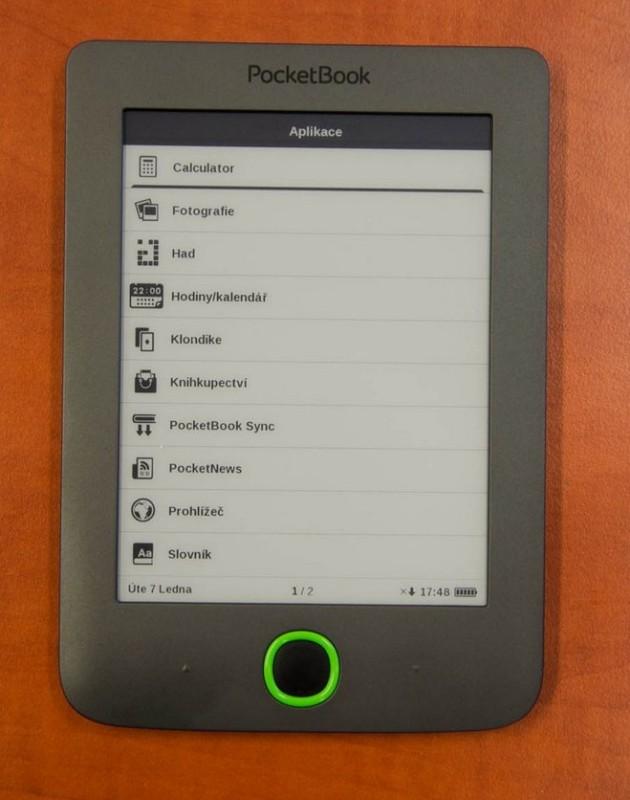 PocketBook Mini hry a aplikace