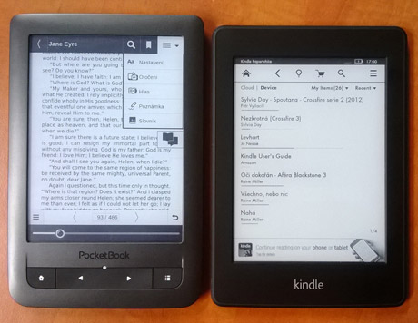 PocketBook Touch Lux VS Kindle Paperwhite