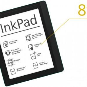 "InkPad - Nová 8"" čtečka e-knih od PocketBook"