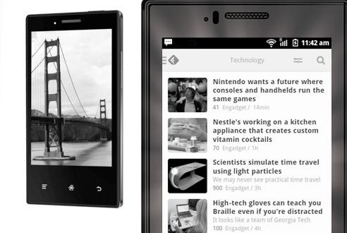 Smartphone s E-Ink displejem - Midia InkPhone