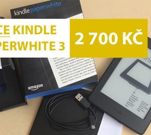 Akce na čtečku e-knih Kindle Paperwhite 3 za 2700 Kč