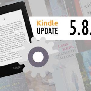 Nový update 5.8.2 pro čtečky Kindle