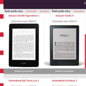 Jak vybrat čtečku knih - katalog čteček
