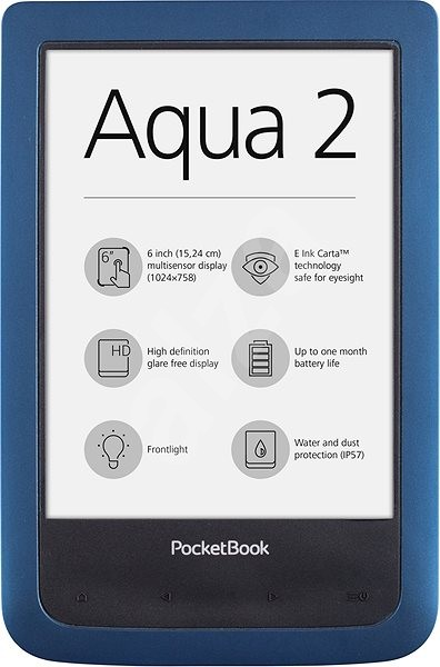 PocketBook 641 Aqua 2 modrá