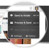 Oficiální plugin Send To Kindle je dostupný pro prohlížeč Google Chrome