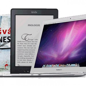 Eknih, kindle, macbook