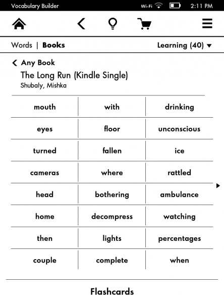 Vocabulary Builder Kindle Paperwhite