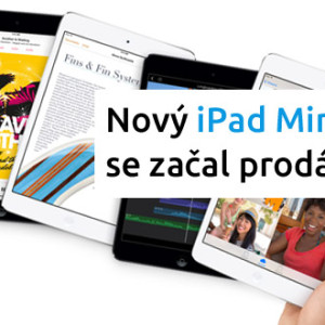 Nový iPad Mini s Retina displejem se začal prodávat za 9790 Kč