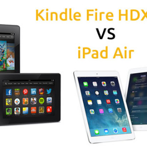 Tablet Kindle Fire HDX 8.9 VS iPad Air