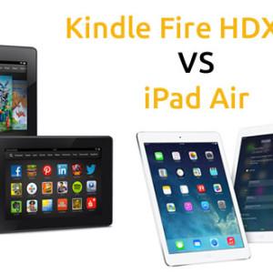 Tablet Kindle Fire HDX 8.9 VS iPad Air