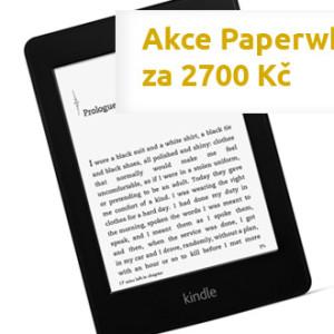 Akce Kindle Paperwhite za 2700 Kč