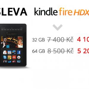 Omezená akce tablety Kindle Fire HDX sleva až 3 300 Kč