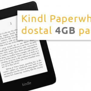 Kindle Paperwhite dostal větší paměť 4GB