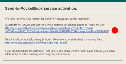 Aktivace Send To PocketBook