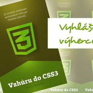 Vyhlášení výherců e-knihy Vzhůru do CSS3