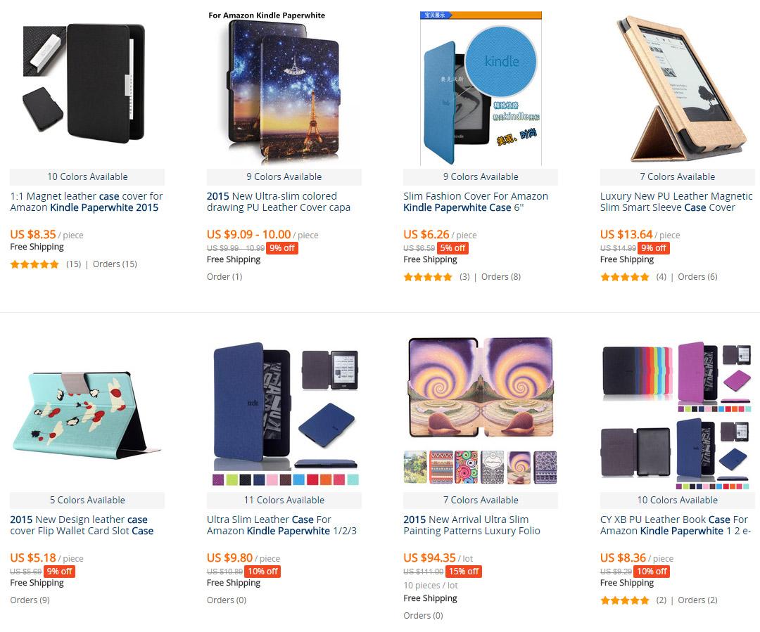 Obaly na čtečky e-knih Amazon Kindle